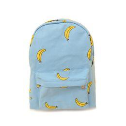 Cute Backpacks For Teenage Girls Australia - Fashion 2019 Women Canvas Cute Banana Backpack School Bag Student Backpacks For Teenage Girls Female Shoulder Bag Y0002