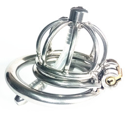 $enCountryForm.capitalKeyWord NZ - Stainless Steel Cock Cage Chastity Cages Device with Spike Ring Penis Penetretion Plug Urethral Catheter Sound Bondage BDSM Torture Sex Toys