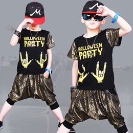 $enCountryForm.capitalKeyWord NZ - Boys hip hop suit 2019 new summer fashion street dance big boy short sleeve sports two-piece children's clothing generation