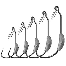 Steel Led Canada - 20pcs 2 2.5 3 5.25 7g With Lead Crank Hook High Carbon Steel Barbed Hooks Fishing Hooks Fishhooks Pesca Carp Fishing Tackle Accessories