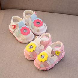 $enCountryForm.capitalKeyWord Australia - Baby shoes baby girl shoes floral toddler Pink Girls Sandals Infant Beach sandal Toddler Sandals infant baby girl designer shoe cute