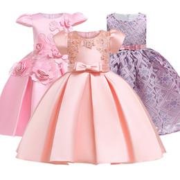 $enCountryForm.capitalKeyWord Australia - High Quality Flower Princess Dress For Girls Clothes Dresses Autumn Winter Style Wear Kids Girls Party Tutu Dress 3-12yrs Red MX190724