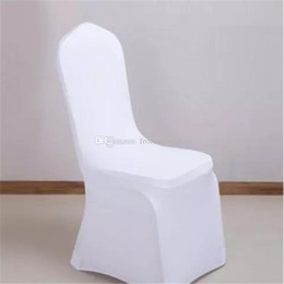 $enCountryForm.capitalKeyWord Australia - free shipping Universal White Wedding Banquet Folding Polyester Spandex Hotel Quality Chair Covers with 4 Pockets 100pcs 2017091201