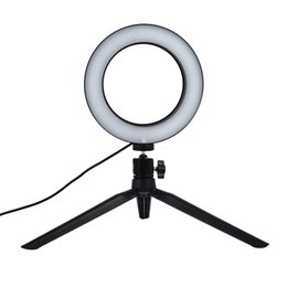 Wholesale Portable Ajustable Inch LED Ring Light W Tripod Dimmable Camera Selfie Universal Shooting Makeup Photo Sudio
