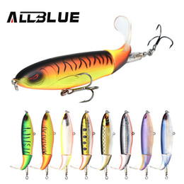Topwater Fishing Lures Australia - 2 pcsAllblue Whopper Popper 9cm 11cm 13cm Topwater Lure Artificial Bait Hard Plopper Soft Rotating Tail Fishing Tackle Geer C19041201