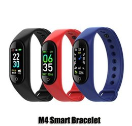 use mi smart watch Canada - Top Selling M4 Fitness Tracker Smart Band Heart Rate Smart Watch Sport Bracelet 0.96inch Monitor Health Wristband Smartband PK mi Band 4 DHL