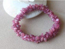 Multi Tourmaline Australia - FREE SHIPPING Natural powder tourmaline bracelet, multi layer pink crystal stone hand, Wanfwanting transfer jewelry, female