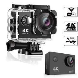 Wholesale HD 4K WIFT action Camera vedio digital Camcorder 30M sport DV 2.0 inch Screen 720P waterproof Helemt Cam