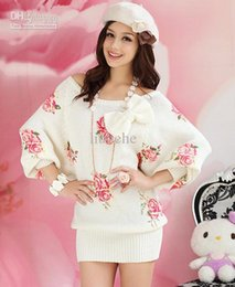 floral print knee length tops Australia - Manufacturers selling roses printed cardigan sweater women's clothing section of home clothing
