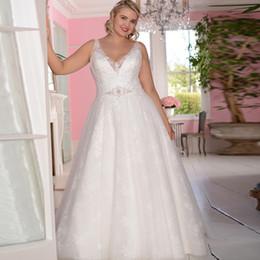 $enCountryForm.capitalKeyWord UK - 2020 Chic Simple Sexy Sheer V-Neck Beach Wedding Dresses Illusion Backless Beach Bridal Gowns Sweep Train