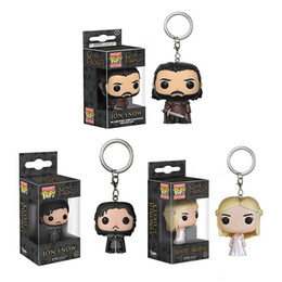 Discount game thrones pop - 3 Style New game of thrones season 8 Action Figure pop Keychain Daenerys Stormborn Jon Snow POP toy figure keychain For