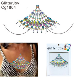 gem quality Australia - CG1804 Good Quality Resin Handpicked Festival Body Sternum Jewel Tattoo Sticker Can Be Self Adhesive Gems Chest Tattoo