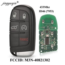 grand cherokee 2019 - jingyuqin 433MHz ID46 Chip 5 Buttons Remote Car Key Fob for DODGE   Grand Cherokee M3N-40821302 M3N40821302 discount gra
