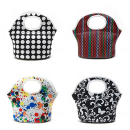 Picnic handbag online shopping - New Pattern Thicken Ice Bag High Quality Neoprene Insulated Coolers Handbag Dot Printed Picnic Lunch Bags Small Capacity sn E1