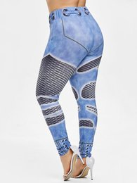 60fe878a59d Wipalo Plus Size Fishnet 3D Print Leggings Women Leggings Casual Skinny  High Waist Pencil Pants Fashion Jeggings Lady Trousers