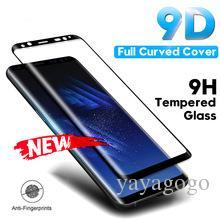Factory Screen Protectors Australia - Factory price Tempered Glass Film For Samsung Galaxy Note 8 9 S9 S8 Plus S7 Edge 9D Full Curved Screen Protector For Samsung A6 A8 Plus 2018