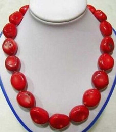"""$enCountryForm.capitalKeyWord NZ - Jewelryr Pearl Necklace Beautiiful 18"""" Tibet Red Coral large beads Necklace Free Shipping"""