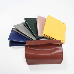 $enCountryForm.capitalKeyWord Australia - Leather Napkin Boxes Rectangle Paper Towel Bags Fashion Pure Color Tissue Box Creative With High Quality 10 5yy J1