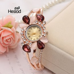 Vintage glass bangles online shopping - Hesiod Wedding Party Water Drop Crystal Bangle Bracelet Watches for Women Vintage Retro Quartz Wristwatches