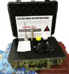 Cheap waxing online shopping - Cheap E Nail Pelican Electric dab nail ENAIL controller wax PID TC box with Titanium mm domeless with titanium nail