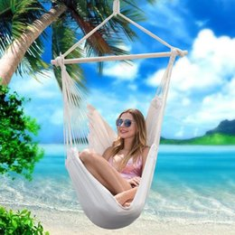 kids hammock swing NZ - Garden Hammock Swing Chair Hanging Bed With 2 Pillows for Outdoor Adults Kids Leisure Hammock Hanging Chair