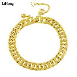 $enCountryForm.capitalKeyWord Australia - Fashion 24k Gold Color Chain Bracelet Men's Curb Cuba Link Ladies Fashion Gold Bracelet Jewelry 2019 New