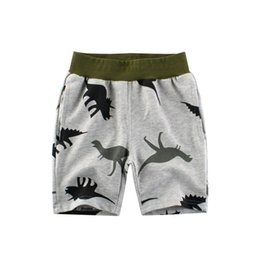 Cheap Cotton pants online shopping - Dinosaur Children Casual Shorts Boys clothes Cotton Terry Five pants Grey Summer Cheap years