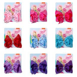$enCountryForm.capitalKeyWord Australia - jojo siwa Hair Bows with Diamonds 14 Candy Color Jojo Bows With Clip hair accessories for girls 5 inch Hair Bow DHL SS197
