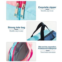 folding beach beds 2020 - Wet Dry Separated Bags Storage Bag Large Capacity Handbag Waterproof Clothes Pouch for Beach Swimming Gym Spa Surfing ch