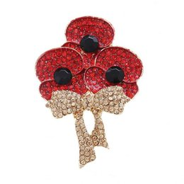 Fruits brooches online shopping - Individuality Autumn Harvest Fruit Tree Zircon Lady Brooch Creative Apple Tree Full Zircon Red Autumn Festival Lady Brooch Gift