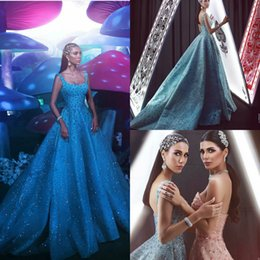 $enCountryForm.capitalKeyWord Australia - 2019 Gorgeous Prom Dresses Quinceanera Wear Square Neck A Line Lace Beaded Evening Dresses Crystal Sequins Arabic Cocktail Party Gowns