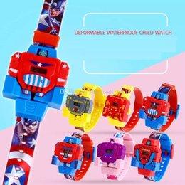Anime figuras Crianças Relógios Para A Menina Menino Dos Desenhos Animados relógio de pulso do bebê os Vingadores heros Super Mario Bros crianças esportes relógio Projetor mk904