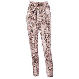 7867f48edea Snake Patterns NZ - 2019 Spring Summer HOT snake pattern feet pants women  new high waist