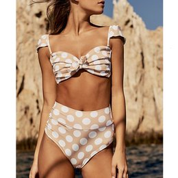 Hot pink swimwear online shopping - Swimwear For Women Designer Bikini Hot Sale Summer High Waist Bikini Women Push Up Swimsuit Sexy Ruffle Polka Dot Suit Female Beach