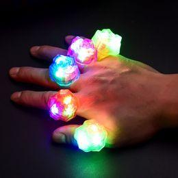 $enCountryForm.capitalKeyWord Australia - New Style LED Flashing Finger Ring Soft Silicone Strawberry Ring Toys Christmas Decor Best Gift for Children Friends