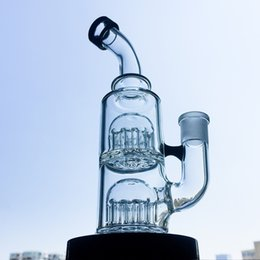 $enCountryForm.capitalKeyWord UK - Clear 12 Arms Tree Perc Glass Water Pipe Small Dab Rigs Double Tree Perc Glass Bongs 5mm Thickness Mini Bong With Bowl YQ01