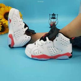basketball shoes for girls Australia - 2019 Children 6 Basketball shoes for Boys Girls Infrared Carmine 6s UNC Toro Hare Oreo Maroon Youth Sports Sneakers Kids size 25-35
