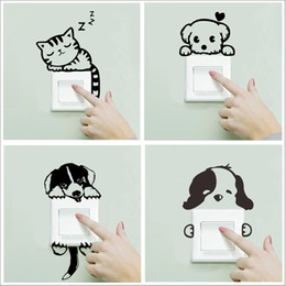 Sleep Wall Decal Sticker Australia - Xxyyzz Diy Funny Cute Sleeping Cat Dog Switch Stickers Wall Stickers Decal Home Decoration Bedroom Living Room Parlor Decoration C19022701