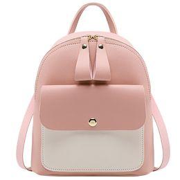 $enCountryForm.capitalKeyWord Australia - 2019 Fashion Women Pu Leather Backpacks Patchwork Zipper Teenager Travel Bag Small Backpack Letter Purse Bag#30