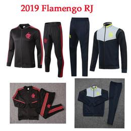 Men Football Tracksuit Australia - 2019 Flamengo Soccer jacket E.RIBEIRO GUERRERO DIEGO VINICIUS Custom Flemish RJ 19 20 Men Youth Football long sleeve soccer tracksuit