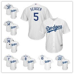0203edf63 Los Angeles MEN WOMEN YOUTH 22 Clayton Kershaw 35 Cody Bellinger Dodgers  Majestic Official Cool Base baseball Jersey White