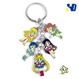 $enCountryForm.capitalKeyWord Australia - Sailor Moon Anime Metal Keychain 3D Colorful Printed With Pendant for Men Women Gift Accessories or Collection