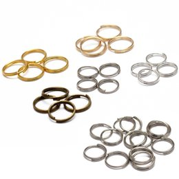 resin connectors NZ - Jewelry & Accessories 200pcs 5 6 8 10 12 14mm Open Jump Rings Double Loops Gold Silver Color Split Rings Connectors For