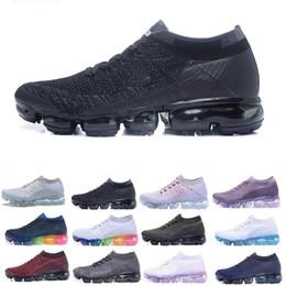 8c7c4c6a Zapatos de diseñador de marca para hombre de aire para mujer al aire libre  barato Triple Negro Blanco amortiguador de aire para caminar zapatillas ...