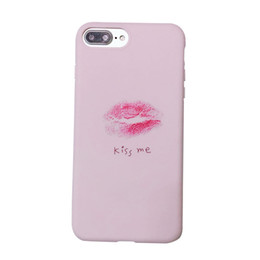 Chinese  3D Sexy Lips KISS ME Case for IPhone X XS 10 8 7 6 6S PLUS 8plus 7plus Phone Shell Couple Soft Silicon Tpu Case Pink Luxury Designer Cover manufacturers