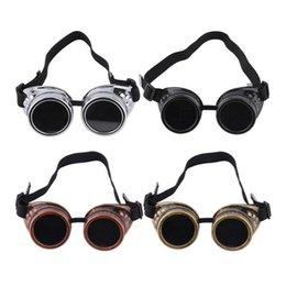 Vente en gros natation vélo cyclisme lunettes Vintage Steam Fashion Lunettes de soleil unisexes Vintage rétro soudure lunettes de soleil Punk 4 couleurs ZZA185