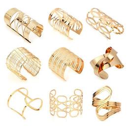 Big Silver Bracelets For Men Australia - Hollow Wide Cuff Bracelets & Bangles For Women Men Gold Silver Color Alloy Open Big Male Female Bangle Bracelet Fashion Jewelry