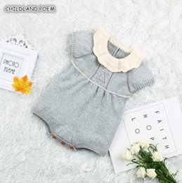 jumpsuits rompers for babies Australia - Knitted Clothes Newborn Girl Romper Cotton Infant Rompers For Boys Girls New Born Jumpsuit Baby Boy RomperMX190912