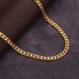$enCountryForm.capitalKeyWord Australia - 10 pcs, Men's Various models Twisted twist Necklace 6 mm wide 18K gold-plated Necklace Alloy Material Don't fade Hip hop Necklace,16~32 inch