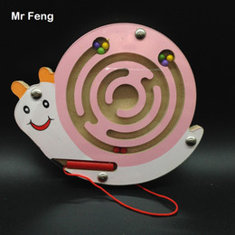 $enCountryForm.capitalKeyWord NZ - Snail Magnetic Pen Maze Game Toys Children Early Childhood Puzzle Labyrinth Intelligence Gift Kid ( Model Number B041 )